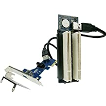 PCI-express x1 PCIe TO 2 PCI Adapter Router Dual PCI slot Riser Card Get Tow PCI PCIE to usb3.0 with low profile bracket
