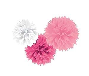 Amscan - Pendenti Fluffy Mix Rosa 3Pz
