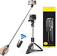 Selfie Stick For Phone Size 4.5-6.2Inch, Extendable Selfie Stick Tripod with Bluetooth Wireless Remote Phone H