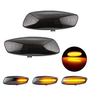 RASHION Coppia di indicatori di direzione LED Laterali per P-eugeot 207 308 3008 5008 C-itroen C3 C4 C5
