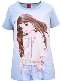 Filles Top Model Shirt, bleu
