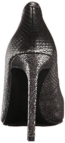 Nine West Tatiana Leather Pump Dress Black & Silver Metalic
