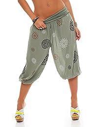 26a28809dc ZARMEXX Señoras 3 4 bombachos estilo Capri pantalones harén pantalones  cortos de verano de yoga