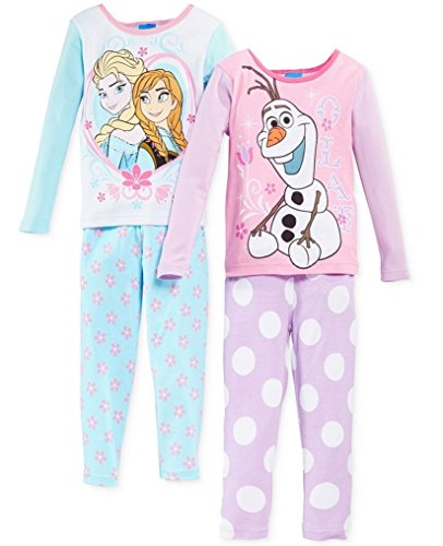 Disney-Frozen-Nios-Nias-Juego-de-algodn-de-manga-larga-pijama