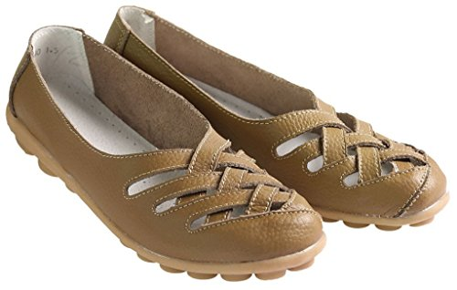 Fangsto  Flats,  Damen Sneaker Low-Tops Khaki
