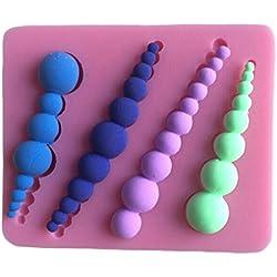 LYNCH Tornillo perla Molde de silicona 3D molde Bakeware decoración de molde de jabón de pasta de azúcar Rosa