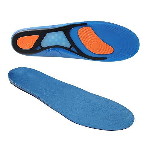 SIKAINI Schuhe Einlegesohlen, Comfort Gel Einlegesohlen Herren, Plantar Fasciitis Einsätze in voller Länge mit Arch Support Relief Flat Feet,hoher Bogen, Fußschmerzen, Supination (311mm) -