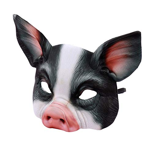SilenceID Halloween Tier Maske Schwein Kostüm Party