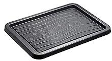 Rotho Snow & Rain Portascarpe, Plastica (PP) Senza BPA, Nero, (51,0 x 39,0 x 2,0 cm)