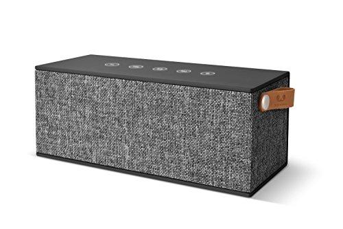 Fresh 'n Rebel Speaker Rockbox Brick XL Fabriq Edition, potente altoparlante Wireless portatile 20W, 15 ore, Extra Bass, Bluetooth, tasti touch, powerbank + vivavoce, in tessuto, Grigio Scuro (CONCRETE)