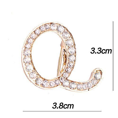 DJDG Broschen Voller Diamant Kristall, Mehrere Englische Buchstaben, Brosche Brosche Pin Bedeckt Schal Schal Clip