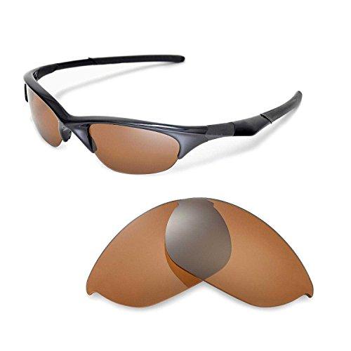 Walleva Ersatzgläser für Oakley Half Jacket Sonnenbrille - Mehrfache Optionen (Braun - polarisiert)