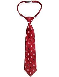 Retreez Classic Anchor Patrón Tejido microfibra PRE-TIED Boy de corbata–varios colores