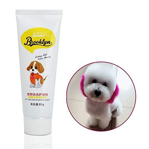 KOBWA Hundehaarfarbe für Hunde, hell, Hypoallergen, permanent, ungiftig, lustig, 80 g, Färbemittel für die kreative Fellpflege