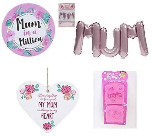 Homestreet Perfektes praktisches Geschenk für Mutter, Mütter in einer Million Kompaktspiegel, Luftballon, Toaststempel, Muttertag oder Geburtstagsgeschenk Bundle