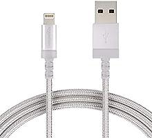 AmazonBasics - Cavo USB-Lightning con guaina in nylon intrecciato, certificato Apple, 1,8 m, argento