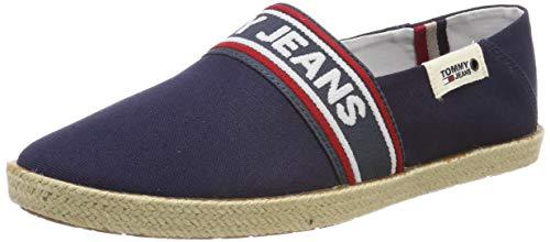 Hilfiger Denim Tommy Jeans Stripe Summer Shoe, Zapatos de Cordones Oxford para Hombre, Bleu, 44 EU