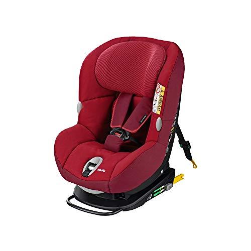 Maxi-Cosi MiloFix Kindersitz, Gruppe 0+ /1 Autositz (0-18 kg), Reboarder mit Isofix, nutzbar ab der Geburt bis ca. 4 Jahre,robin red
