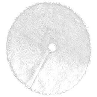 Binchil 1 Pezzo Bianco tappeto Gonna Base Albero di Natale copertura tappetino per Albero di Natale decorazione forniture per Feste casa (78 cm / 30,71 pollici)