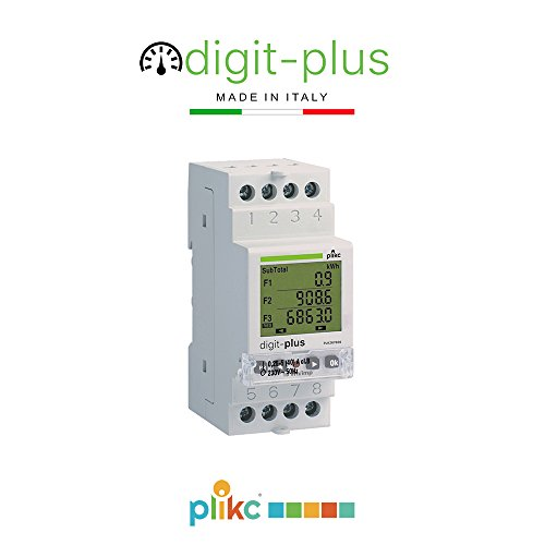 - Plikc - Digit Plus PLK267606. Contador Digital de Energía monofásico Multi...