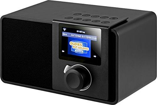 Noxon iRadio Rev 2 Internet Radio (7,1 cm (2,8 Zoll) Farbdisplay, WLAN Netzschalter, Kopfhörer, Line Out) schwarz