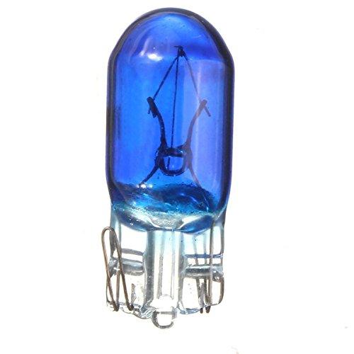 SODIAL 10x Bleu T10 194 168 W5W Ampoule de lampe DC12V Feu de marque de Voiture Feu de stationnement Feu arriere de voiture feu de Porte De Licence