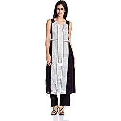W for Woman Women's Straight Kurta (16FE15764-57494_White_16)