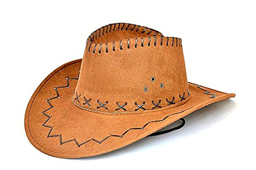 Cowboy Leder Hüte (Hut Cowboyhut Westernhut Kunstleder Western)
