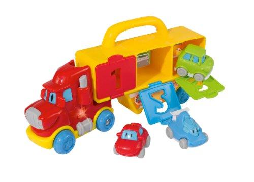Simba 104011116 - ABC Lern- und Spieltruck 28 cm mit 3 Autos