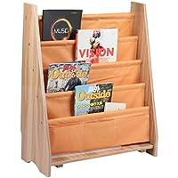 Katherinabade Kinder Bücherregal Aufbewahrungsregal Holz 4 Etagen Buch Organizer (Aprikose) preisvergleich bei kinderzimmerdekopreise.eu