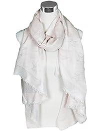 Mevina Schal Lurex mit Silber Stern Glitzer Dreieck Schnitt groß rechteckig Baumwolle Schal Halstuch