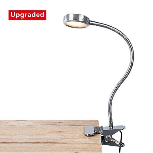 Eyoo Leselampe Buchlampe, Schreibtischlampe LED Büro Tischleuchte 3 Farb- und 9 Helligkeitsstufen dimmbar, Netzteil Inklusive, Arbeitsplatzleuchten, LED Leselampe mit Klammer, mit USB 1.5m Kabel