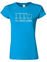 Its A Beautiful Day Tag um Leben-Grau Anatomie-Damen-T-Shirt