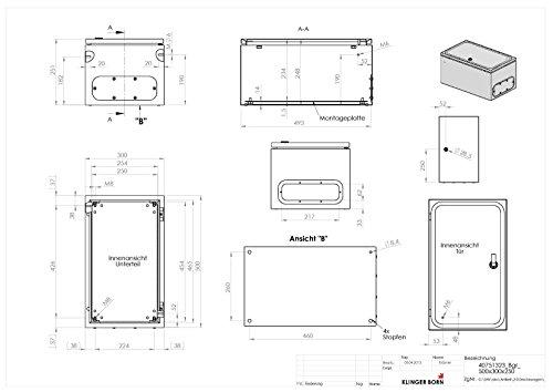 Metallgehäuse für z.b Schaltschrank, 300x500x250mm (BxHxT) - 2