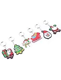 PULABO Llavero creativo de Navidad para árbol de Navidad, Papá Noel colgante llavero duradero y práctico