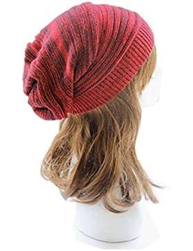 Rcool Unisex Knit Baggy Beanie Beret invierno cálido Ski Cap sombrero para las mujeres Hombres