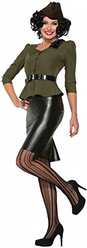 shoperama 40er Jahre Damen-Kostüm Missle Millie Pearl Harbour 40's Uniform 2. Weltkrieg, Größe:38/40