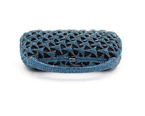 Abendbeutel Europa und den Vereinigten Staaten Artkristall vollen Bohrgeräts Bohrgerät Tasche Magnetschnalle blau Blue