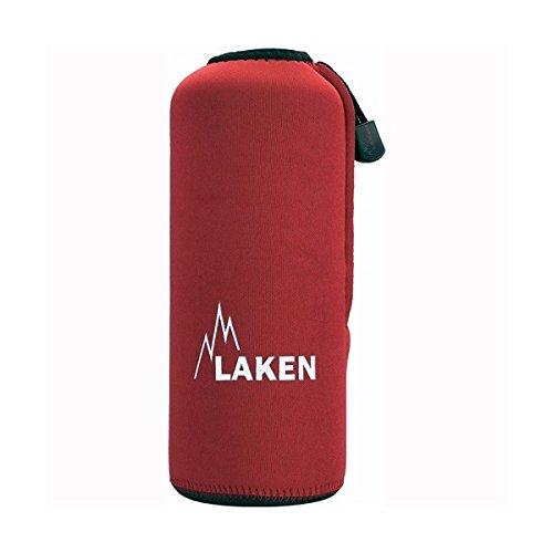 Laken custodia in neoprene rosso per bottiglie di alluminio priva