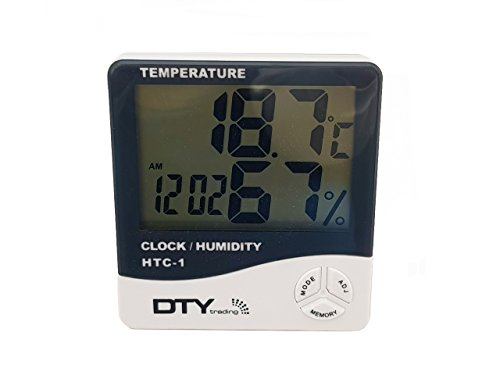 DTY Trading Thermomèthe et humidité LCD digital