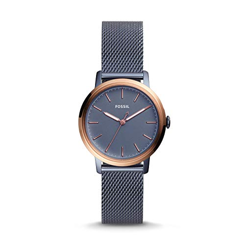 Fossil Damen Analog Quarz Uhr mit Edelstahl Armband ES4312