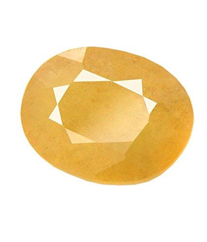 7.25 Ratti Peela Pukhraj Natural Yellow Sapphire Certified