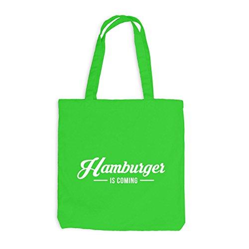 Jutebeutel - Hamburger is coming - Hamburg HH Style Hellgrün