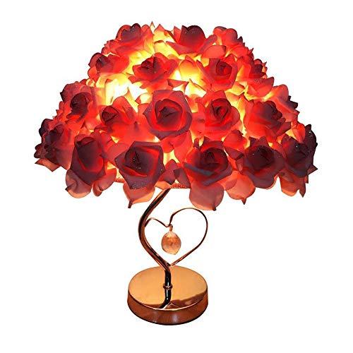 Rose Schreibtisch Tischlampe mit Crystal Stand für Hochzeit Wohnzimmer Schlafzimmer Home Decor für Parteien Rose Tischleuchte ()