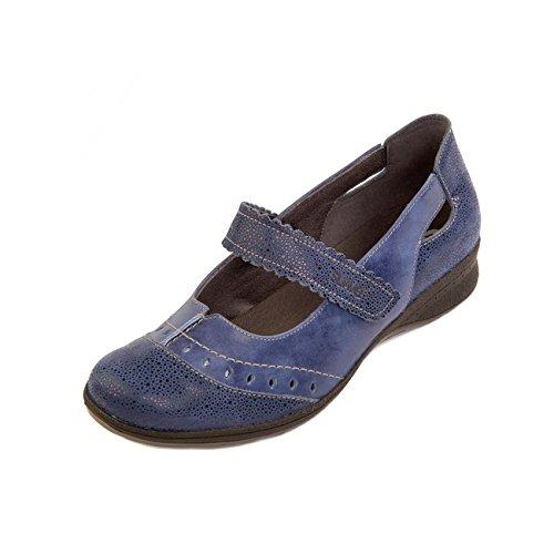 Suave , Chaussures de ville à lacets pour femme Royal Blue/Reptile