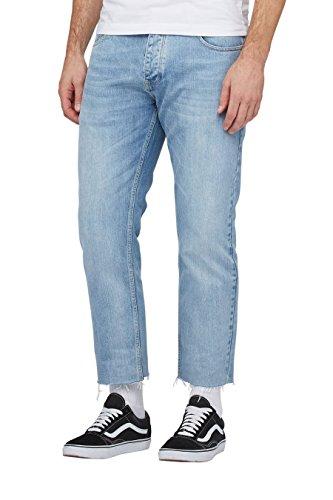 next Jean slim avec ourlets effilochés Coupe Slim Homme Bleu
