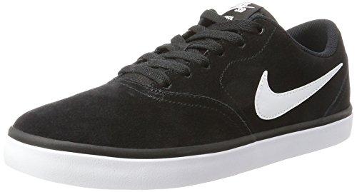 Nike Herren SB Check Solarsoft Skateboardschuhe, Schwarz (Black/White), 45 EU (Skateboard-schuhe Nike Sb)