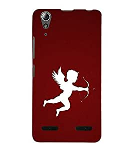 Vizagbeats white color cupid Back Case Cover for Lenovo A6000 Plus