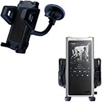 Windshield Vehicle Mount Cradle suitable for the Sony Walkman NW-ZX300 - Flexible Gooseneck Holder with Suction Cup for Car / Auto. Lifetime Warranty