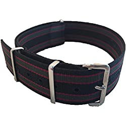 NATO G10 Nylon Watch Strap by Phoenix Straps James Bond Regimental Strap 18mm